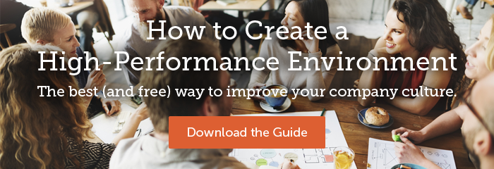 How to Create a High-Performance Environment - The best (and free) way to improve your company culture. Download the Guide.